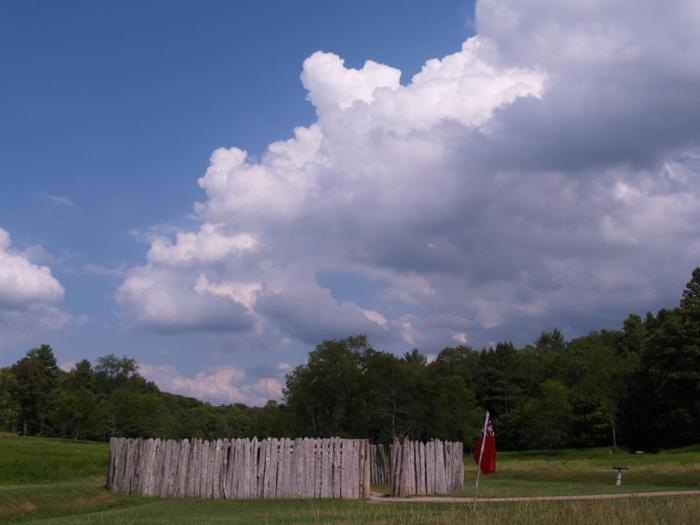 Fort NecessityThe small circular stockade of Fort Necessity served as a supply depot for George Washington's Virginia Regiment during their 1754 campaign.