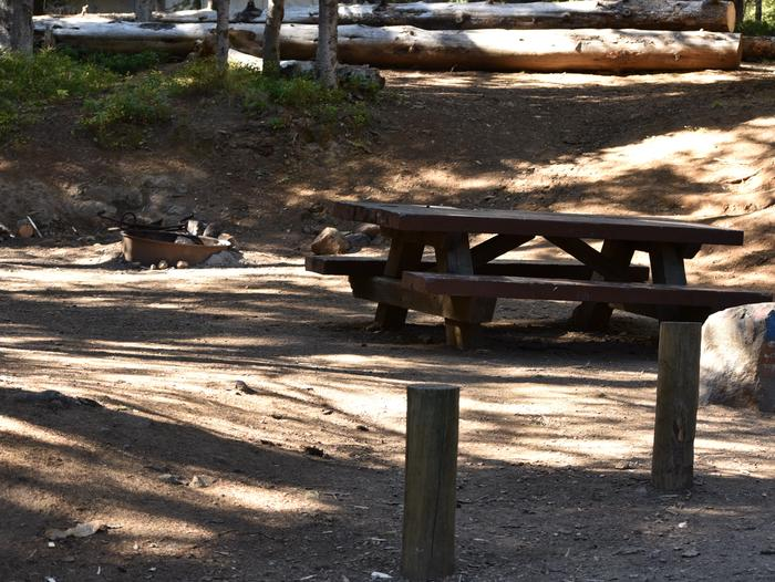 Campground with picnic table, fire pit and shadeJubilee Lake campground #6