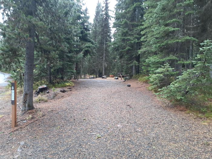 Campsite parking area, gravelJubilee Lake Campground #8