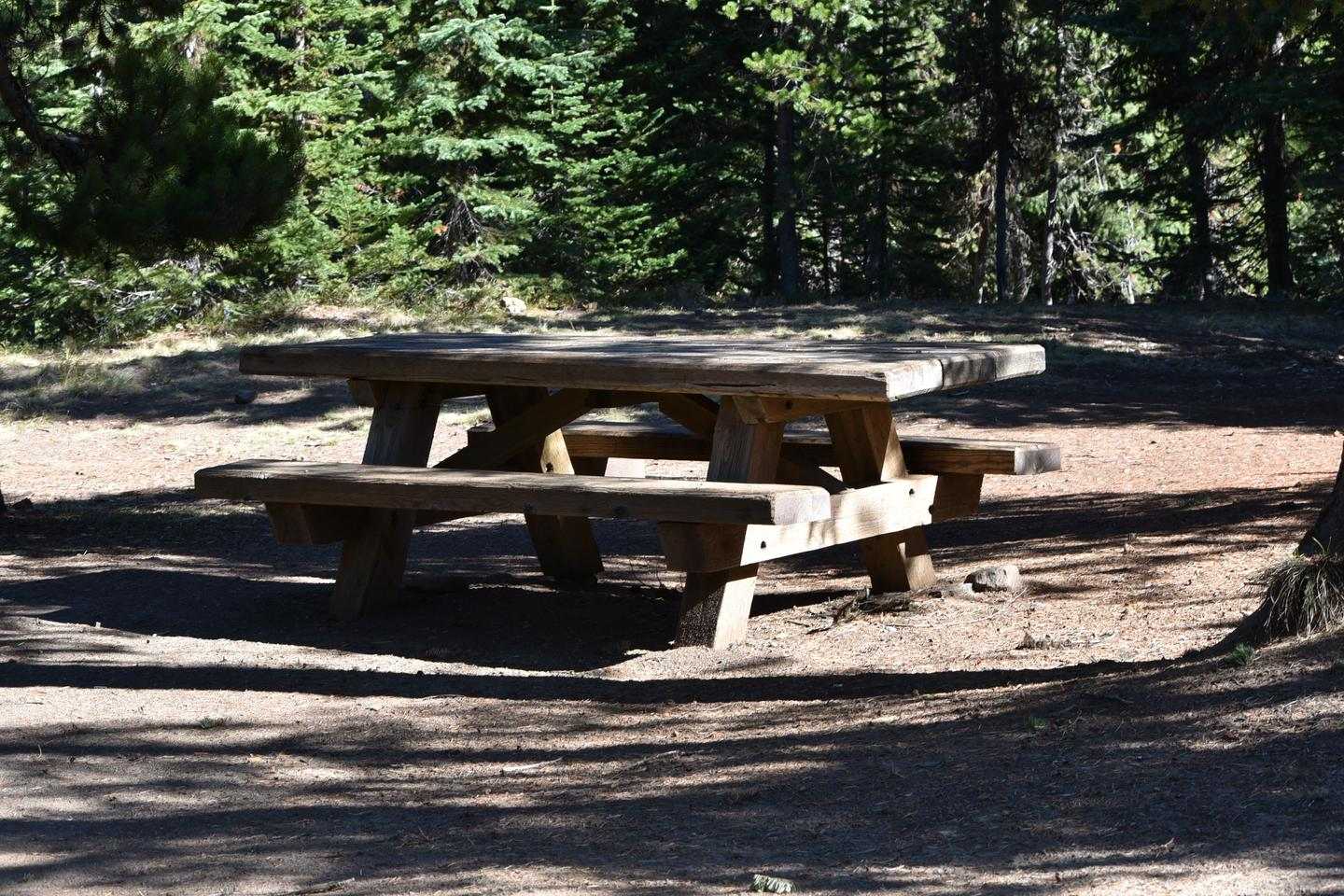 picnic tableJubilee Lake Campground site #22