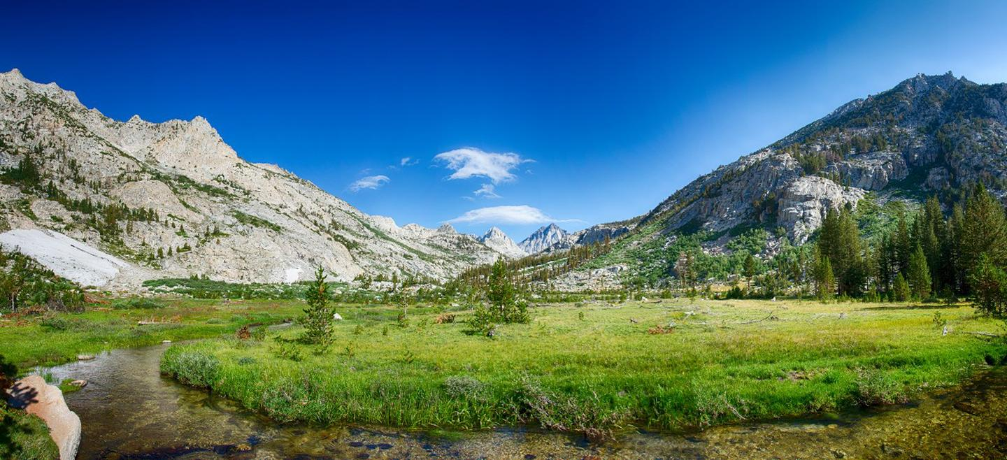Laurel Creek Basin, John Muir WildernessBeautiful destinations can be found in the John Muir Wilderness, like this picture perfect spot Laurel Creek Basin.