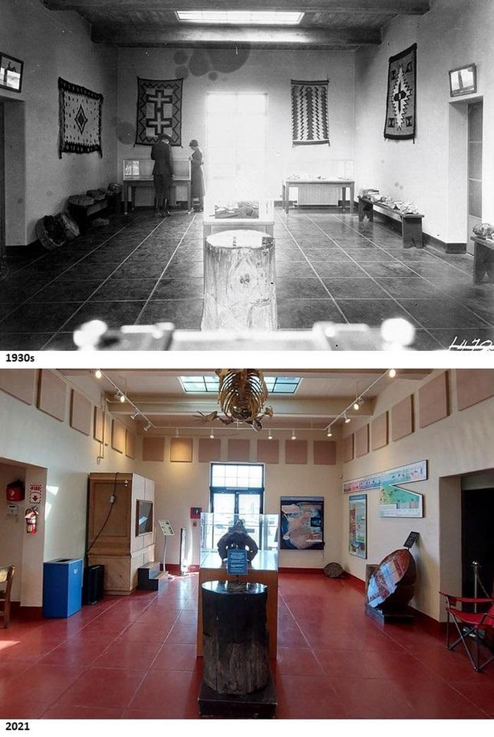 Rainbow Forest Museum in the 1930s and 2021