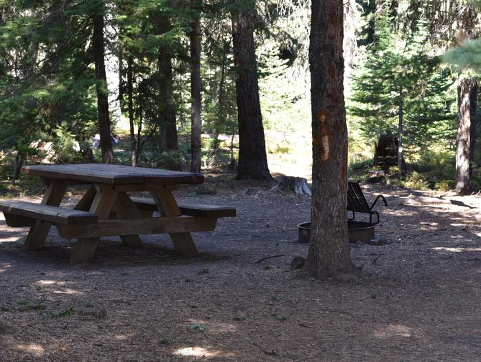 camp site picnic table and fire ringJubilee Lake Campsite #46