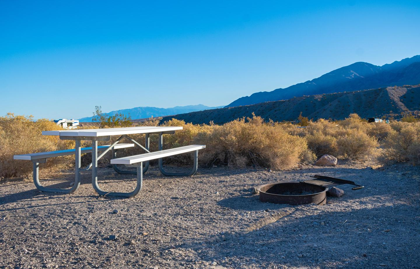 Mesquite Springs Sample Site #2All sites have a picnic table and fire ring.