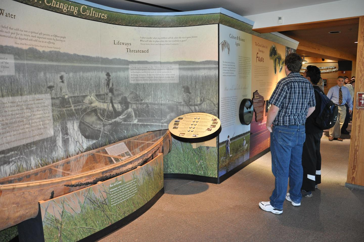 Changing Climate Changing Cultures exhibitExhibits tell the story of this area, past and present.
