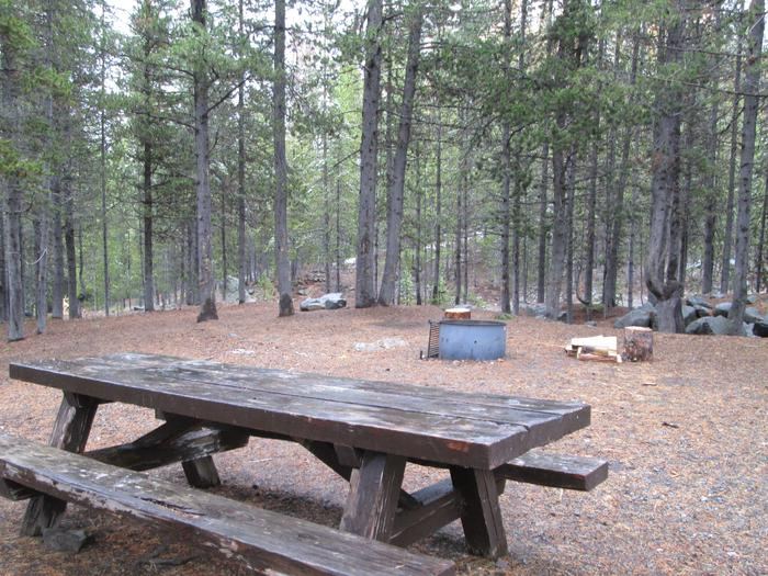 campsite picnic table and fire ringOlive Lake Campground site #12