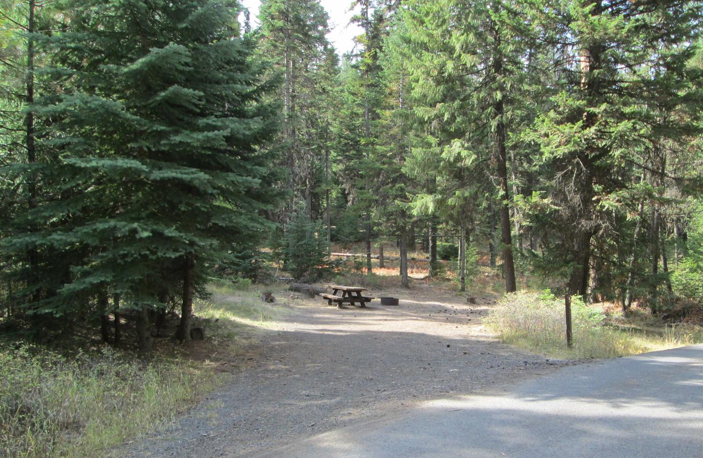campsite parking area and entrance signBull Prairie Lake site #5