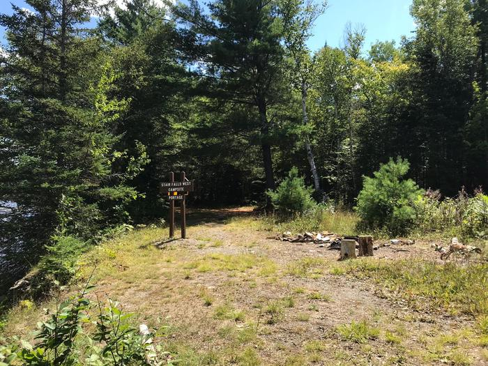 Stair Falls CampsiteThe Stair Falls West Campsite is located on the bank of the East Branch Penobscot River.