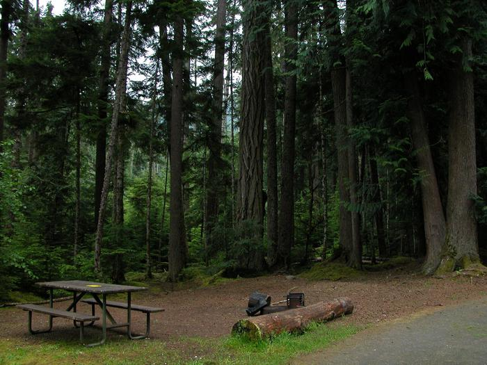 heart campground siteA site at Heart o'the Hills Campground.