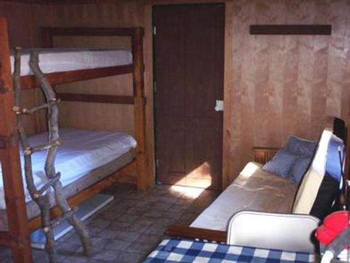BUCK PARK CABIN - Interior showing bunk bedsBuck Park Cabin