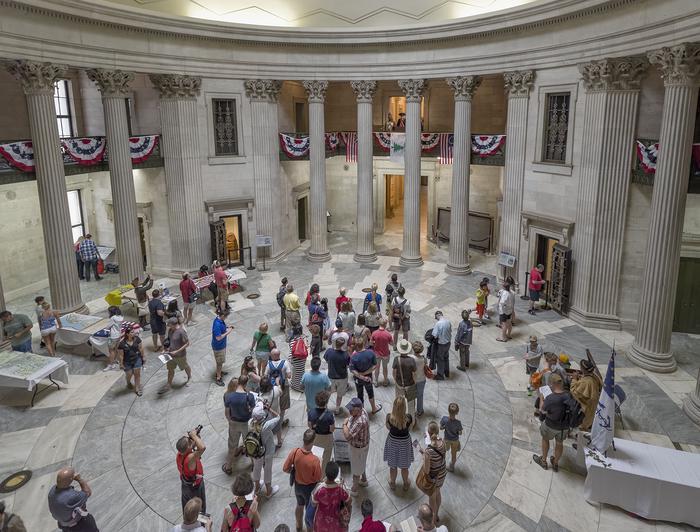 Federal Hall InteriorThousands of visitors each year visit Federal Hall National Memorial