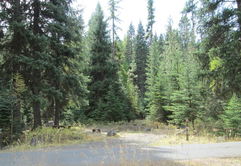 campsite areaBull Prairie Lake Campground site #15