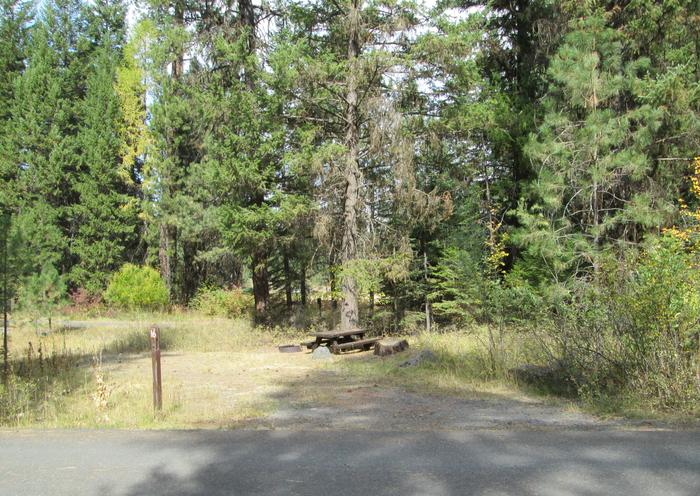 campsite areaBull Prairie Lake Campground site #16