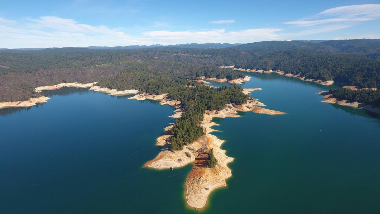 Bullards Bar Reservoir Aerial view of lake