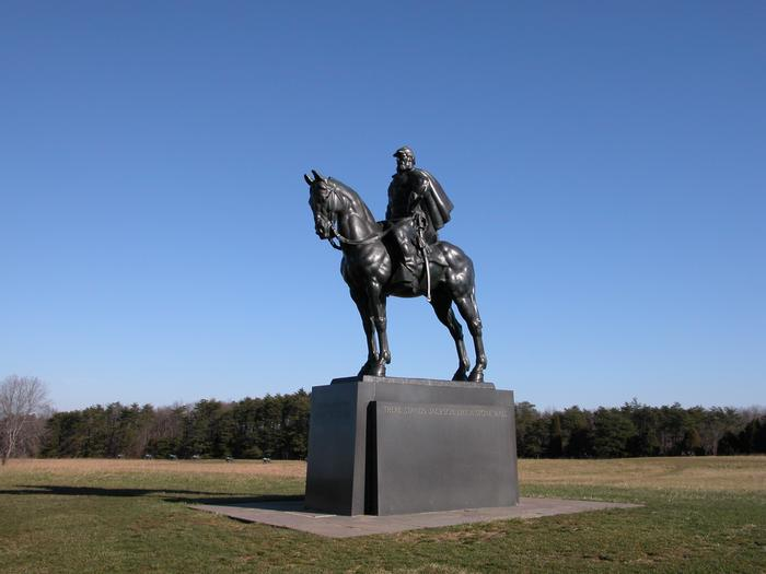 """Stonewall Jackson MonumentThe statue of Confederate Gen. T. J. """"Stonewall"""" Jackson stands on Henry Hill, near the spot where he earned his famous nickname."""