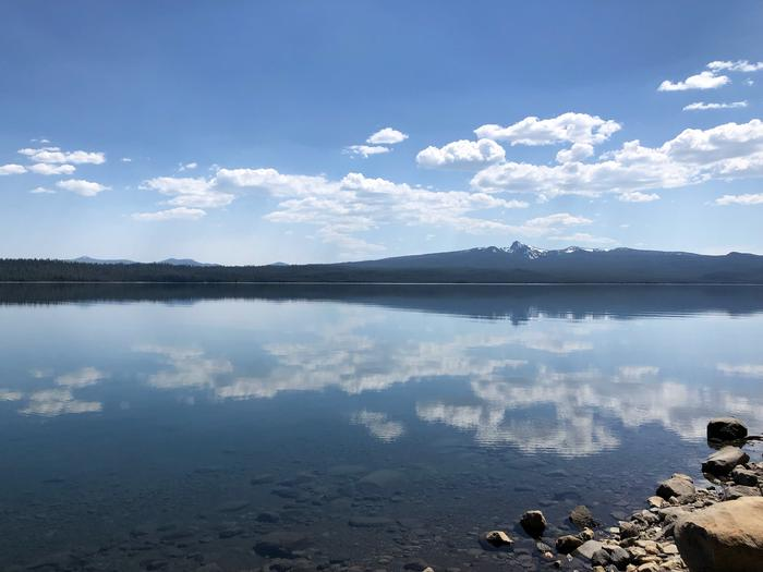 View of Cowhorn Mountain from Crescent Lake Campground