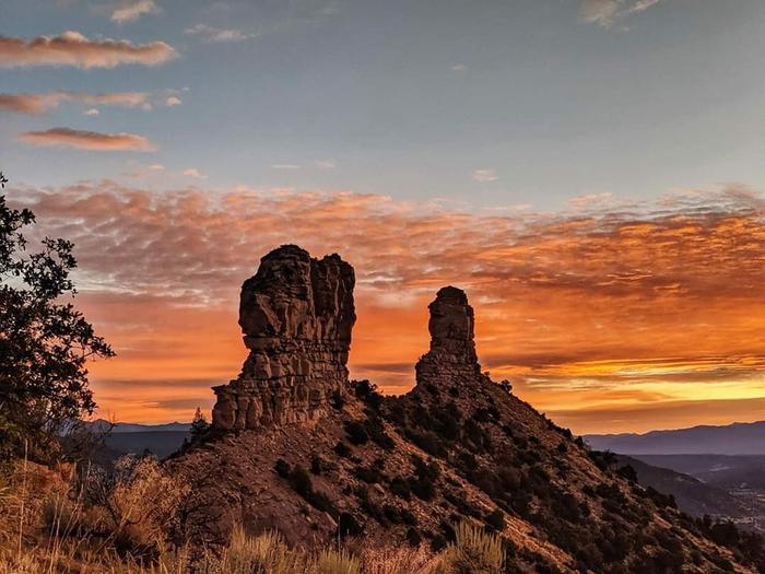 Chimney Rock at SunriseSunrise at Chimney Rock