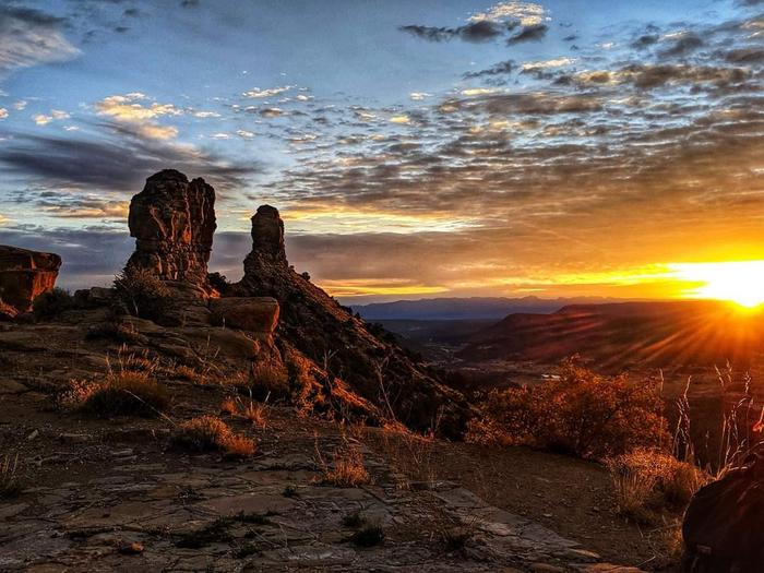 Sunrise over Chimney Rock Pinnacles