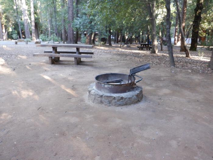 School House 36Tent pad, fire ring and picnic table