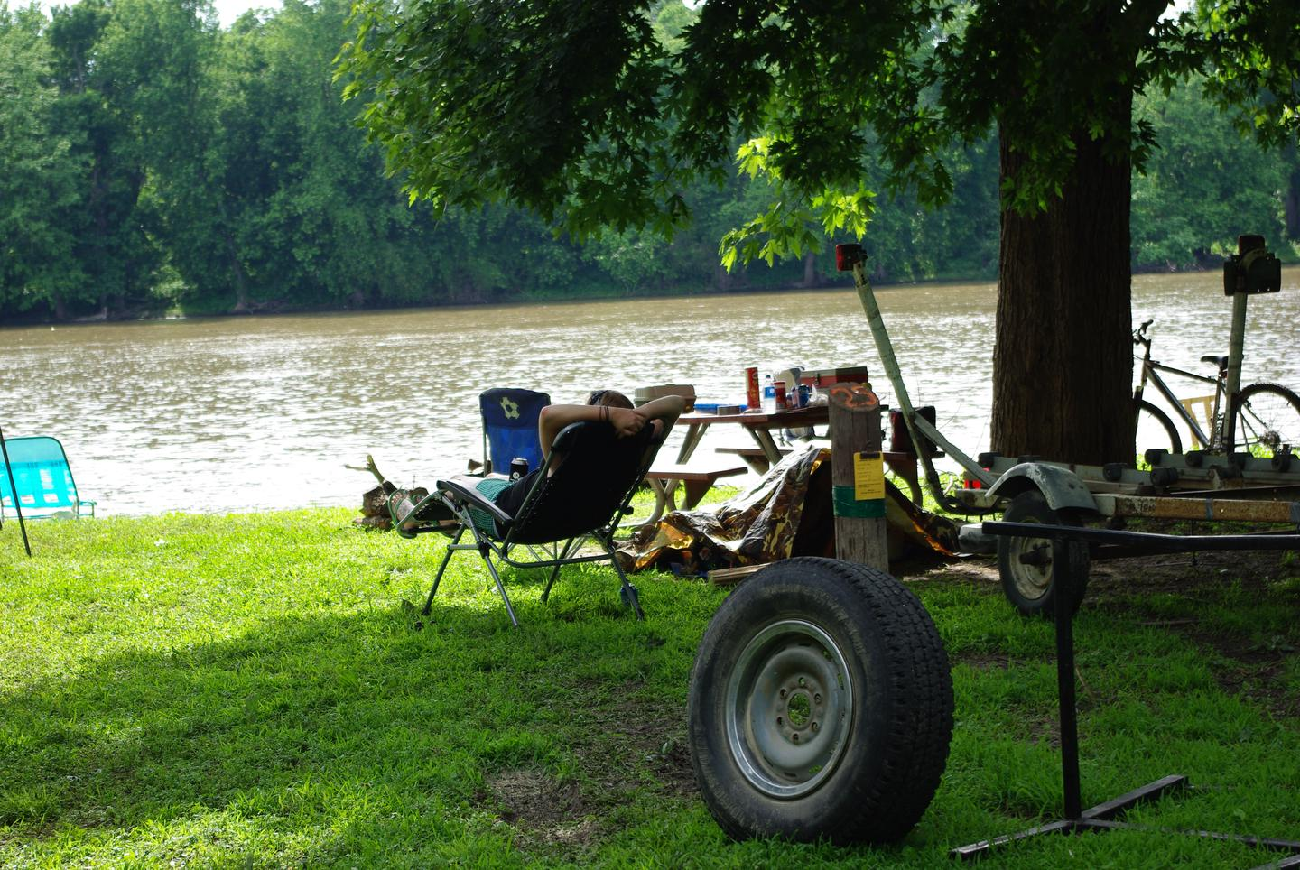 Lounge Chair overlooking the river.