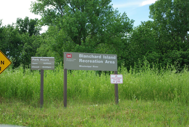 BI Entrance Sign