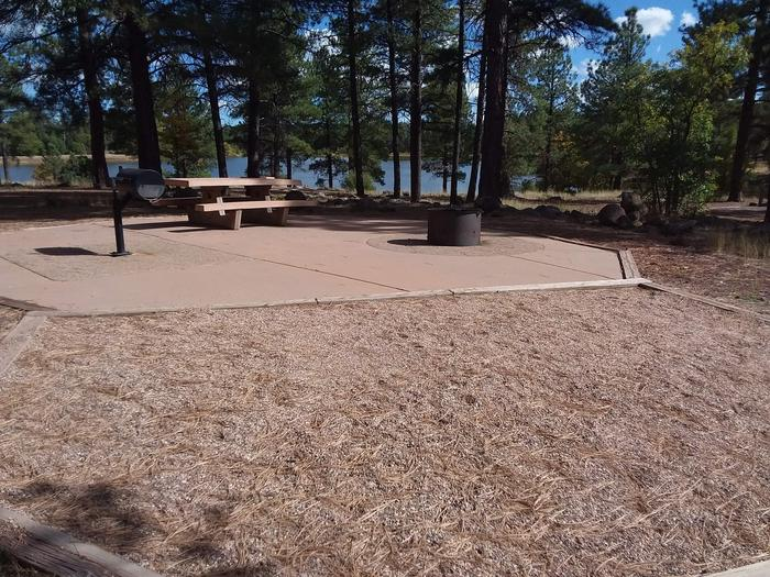 paved and compacted campsite with view of lakesite 052