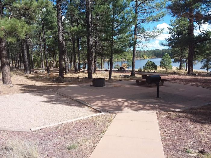 campsite with concrete path to site and view of lakesite 053
