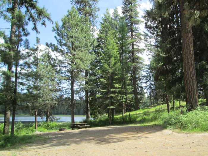 north part of campground, site 27Bull Prairie Lake Campground