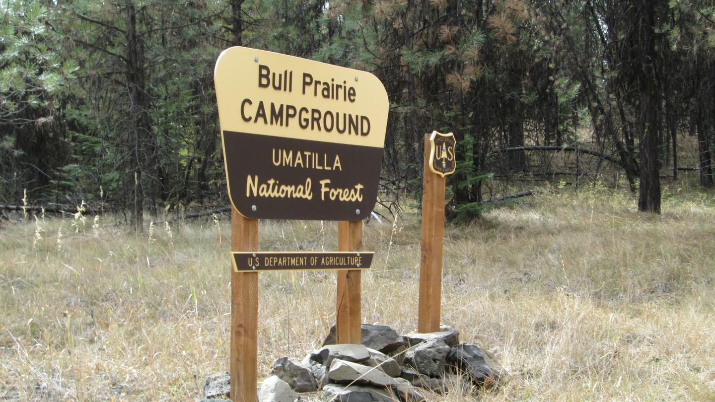 East entrance Bull Prairie Campground
