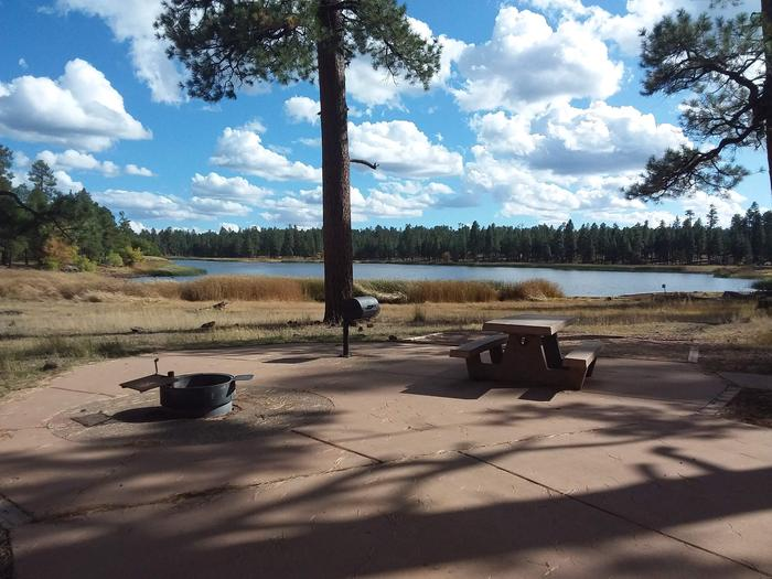 Paved campsite with amazing view of lakesite 064