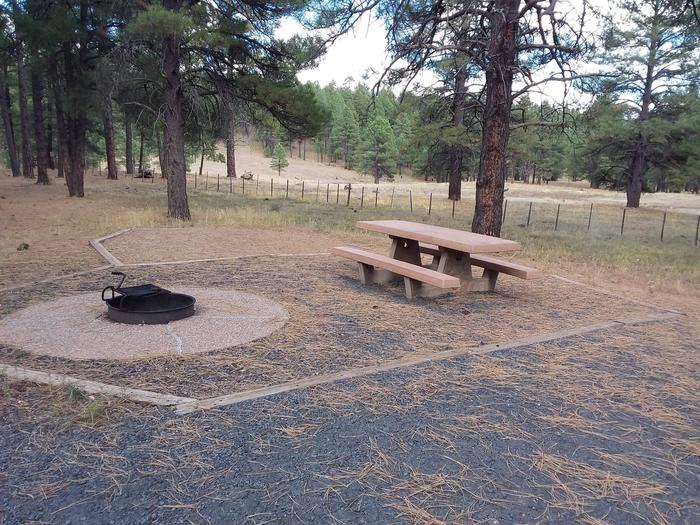 gravel campsite with fence in backgroundsite 074