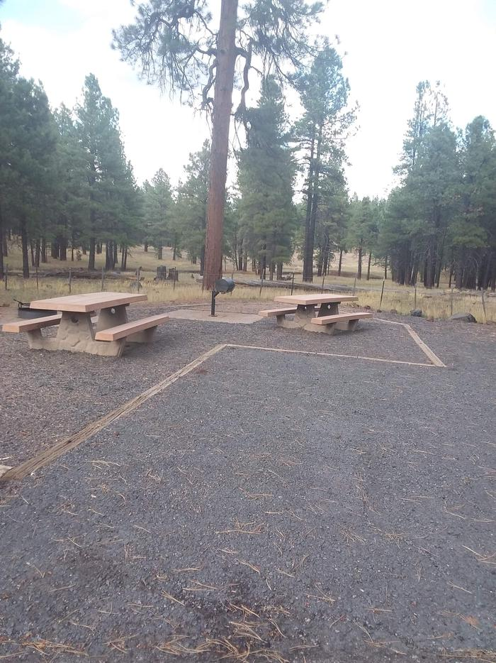 Group site with two picnic tablesgroup site