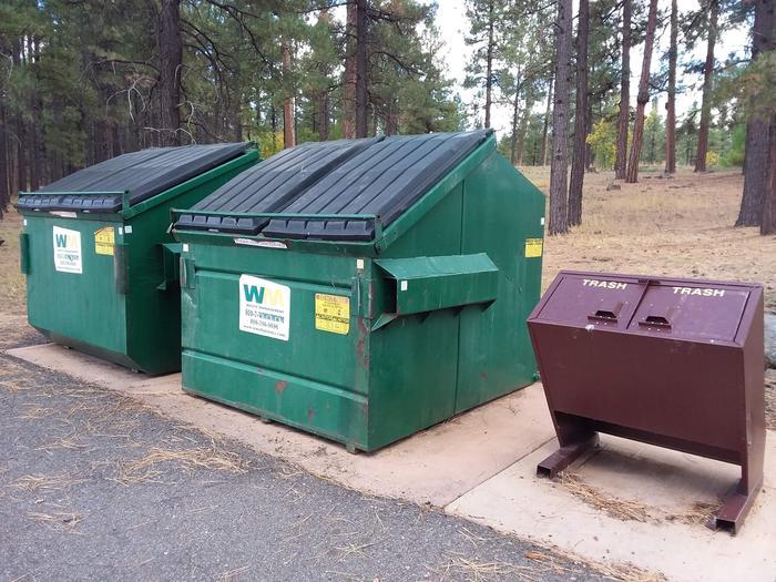 trash bins at campgroundtrash receptacles