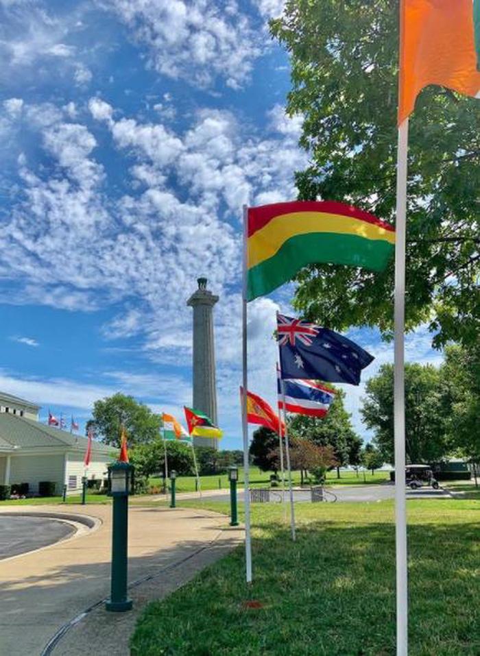 International flags at Memorial
