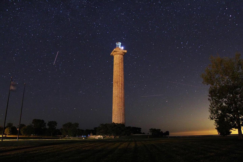 Night Sky and Memorial
