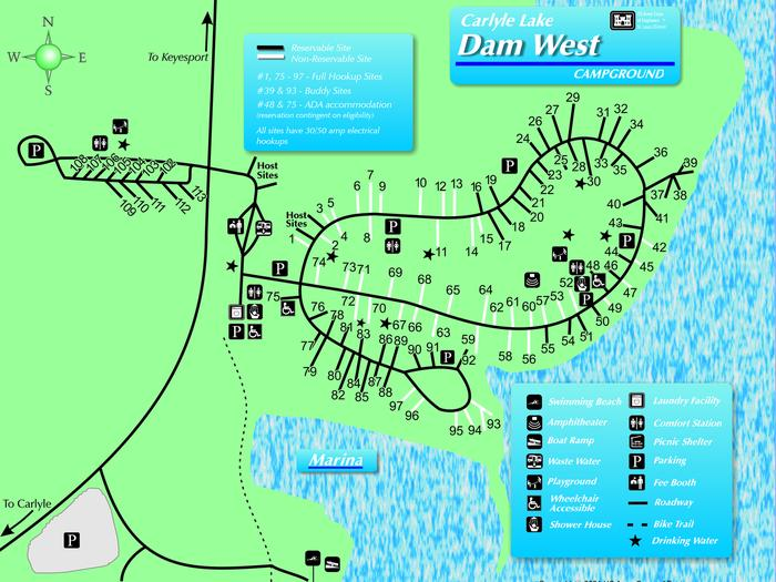 Preview photo of Dam West Rec. Area (Camp And Day)