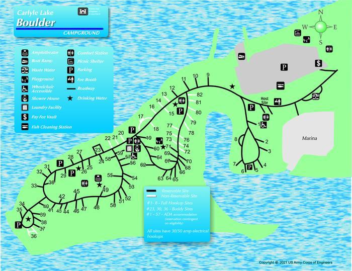 Boulder Campground MapMap of Boulder Campground layout.