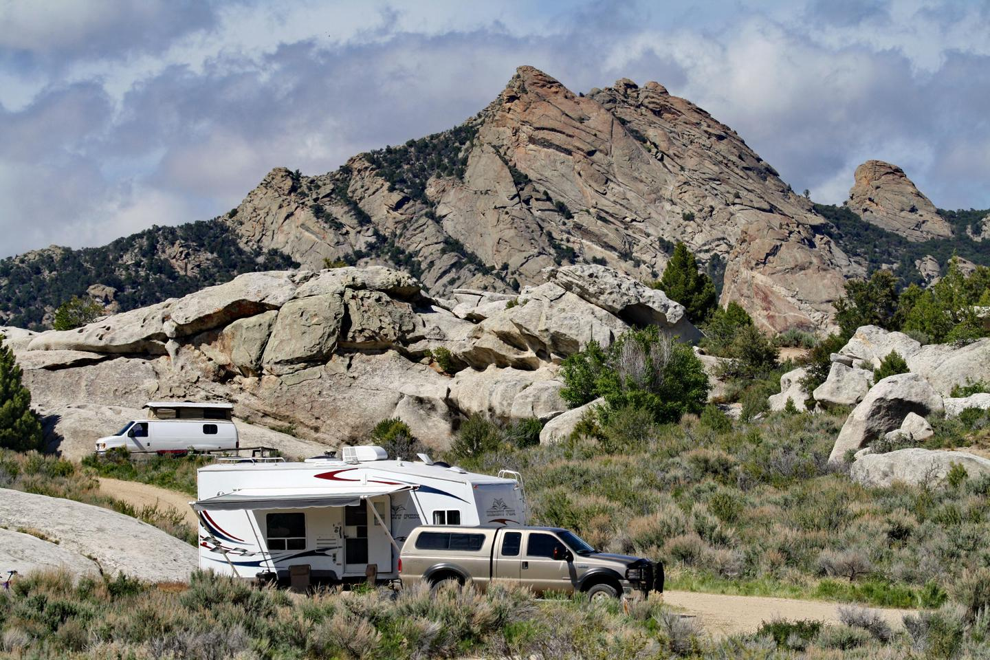 City of Rocks Camping 02Some campsites are suitable for small RV campers