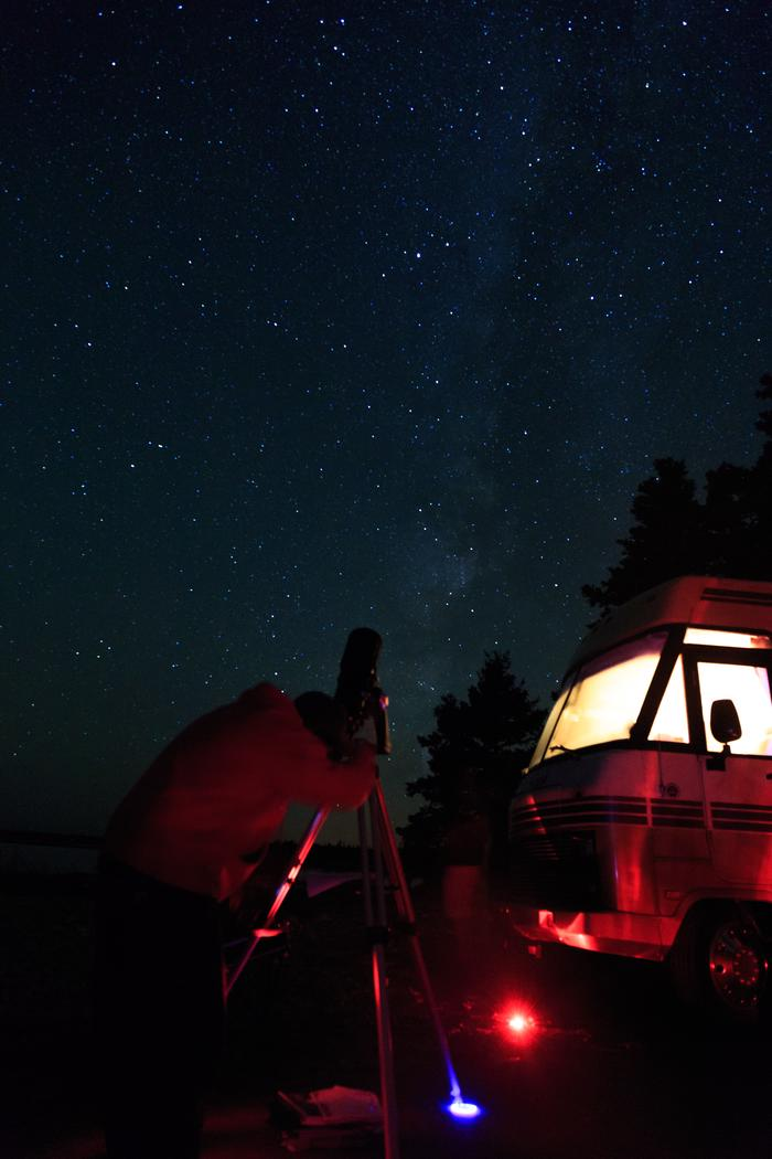 StarviewingWith dark skies, Acadia is a fantastic place to come see the stars.