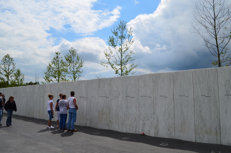 Wall of Names at the Memorial Plaza at the crash site