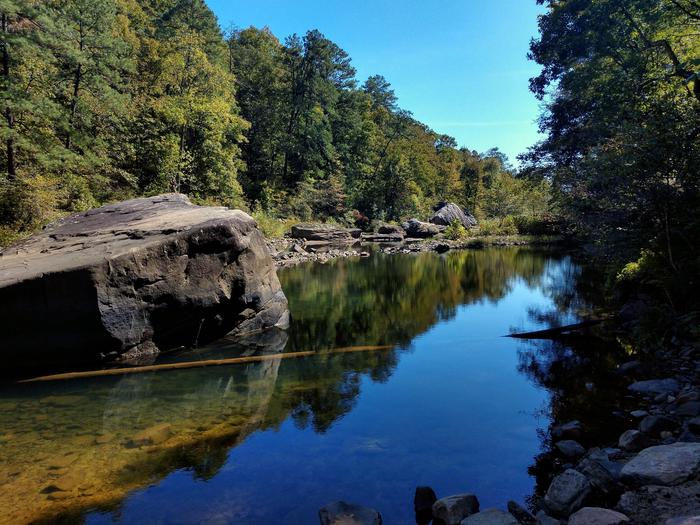 Canyon Mouth Park - a great place to fish or swimAs it exits the canyon, the Little River leaves behind the tumbling white water of rapids in exchange for a tranquil, serene flow.