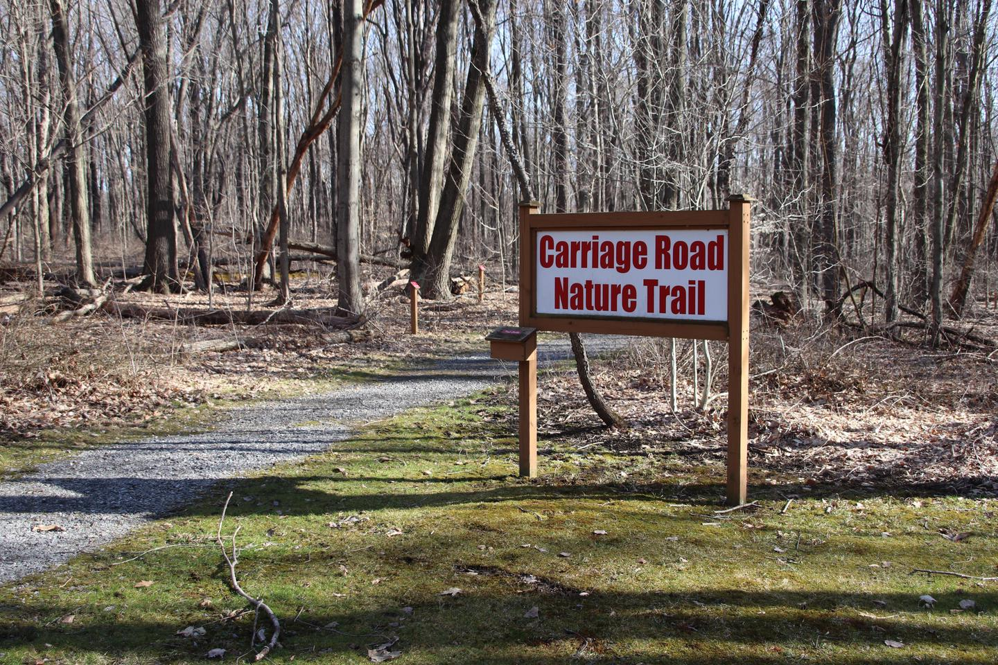 The Carriage Road Nature Trail can be accessed from the picnic area or near the South Abutment.
