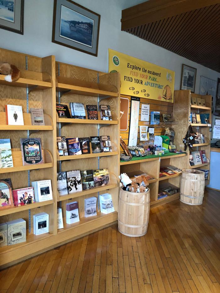 The Visitor Center bookstore has many items available for purchase.The Visitor Center bookstore