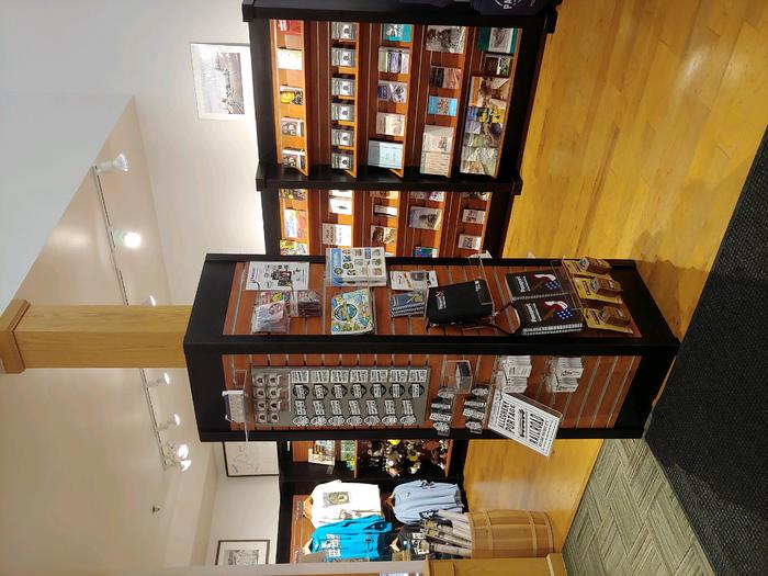 The Visitor Center bookstore offers a variety of items for sale.