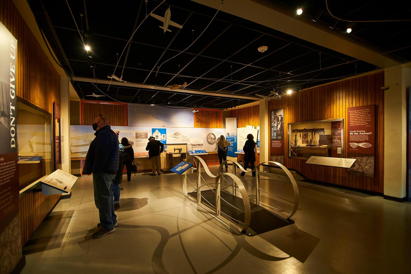 Museum ExhibitsThe Wright Brothers Museum helps explain the invention of powered flight