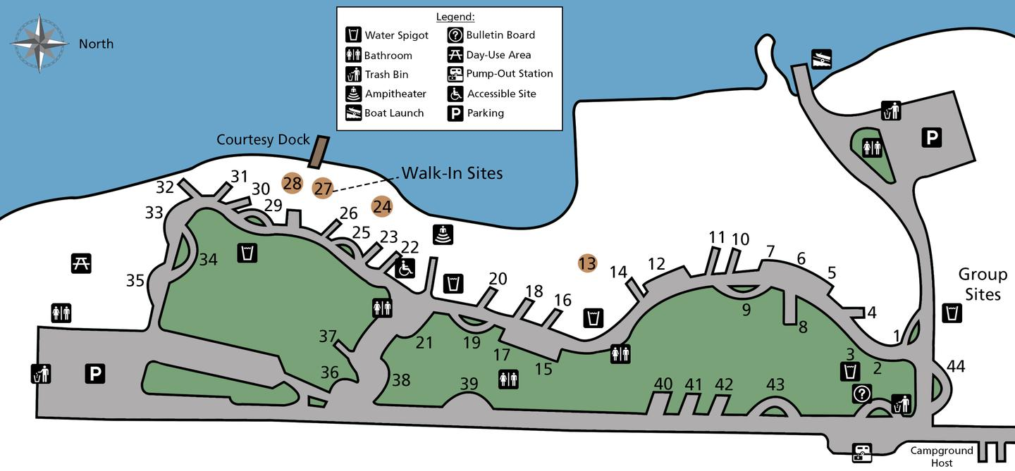 Evans Campground site map