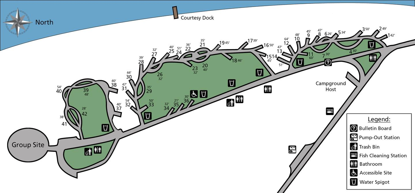 Gifford Campground Site Map