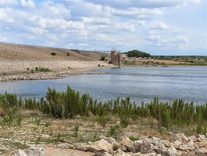 Dam and the lakeHords Creek Lake and Dam