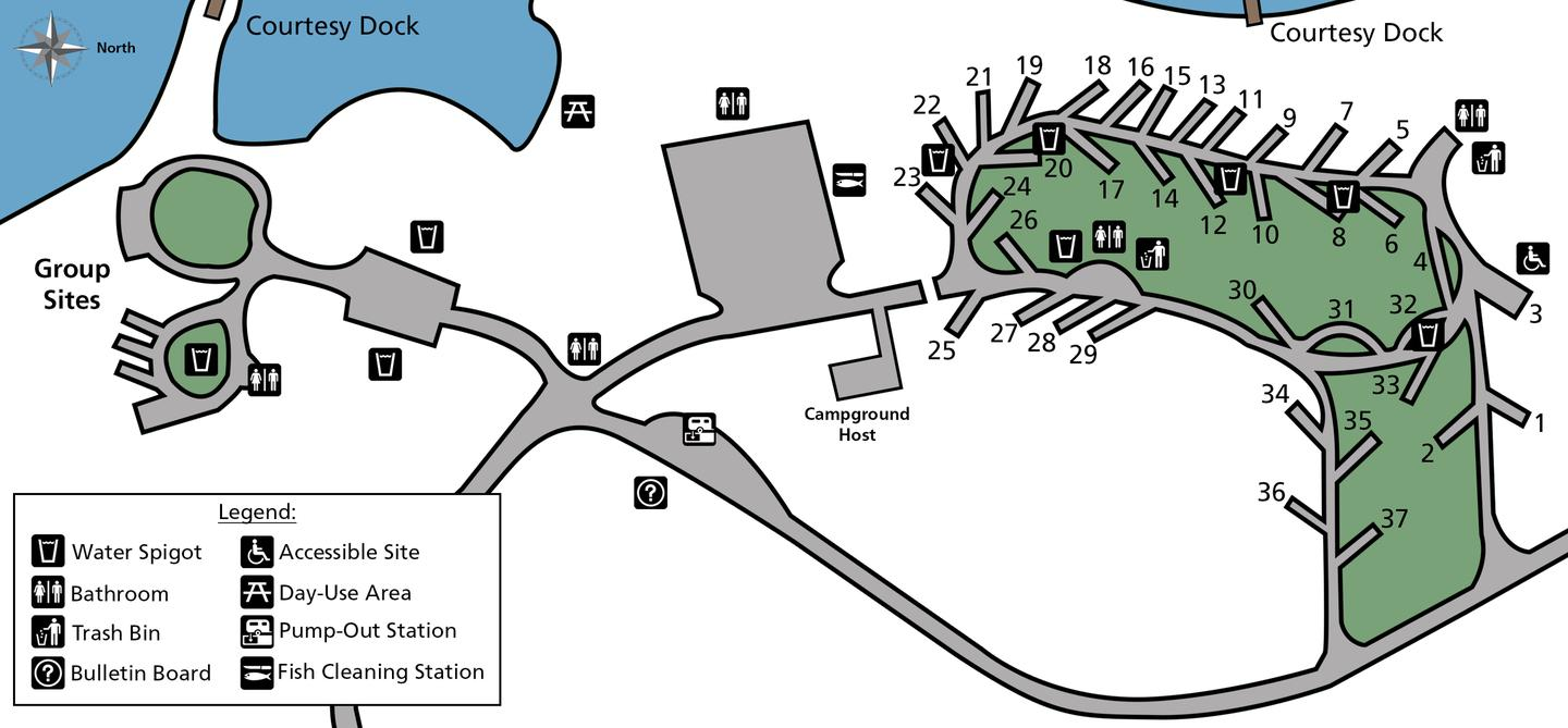 Hunters Campground Site Map