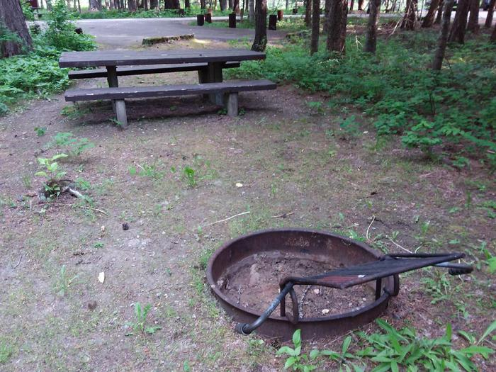 Yaak River Site 3-fire ring